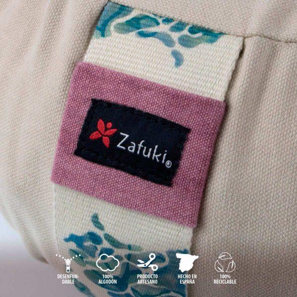 Detalle cojín zafu redondo gaia