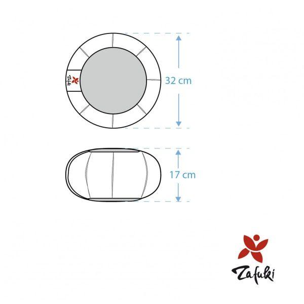 Medidas aproximadas: 32cm diámetro x 17cm de alto (ajustable)