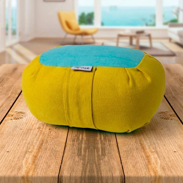 Zafu pequeño Wagon Nature portable infantil mostaza cielo