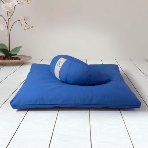 kit meditacion zafu redondo + base azul