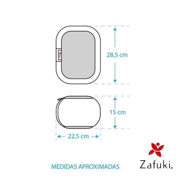 Medidas aproximadas zafu viaje niño