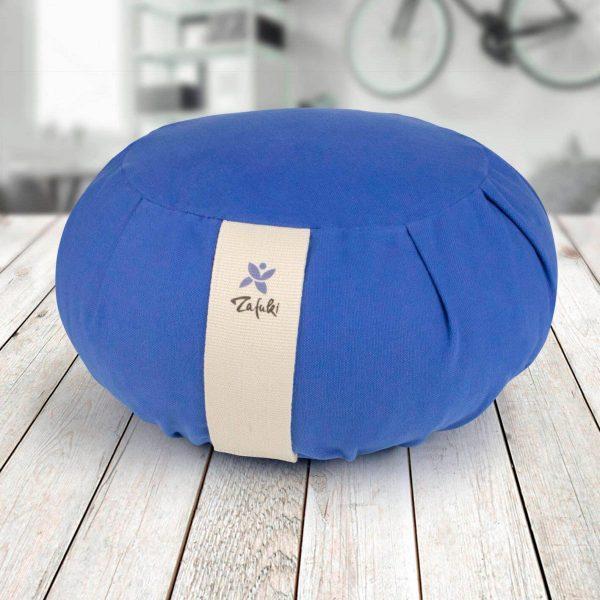 Zafu cojín para yoga y meditación color azul