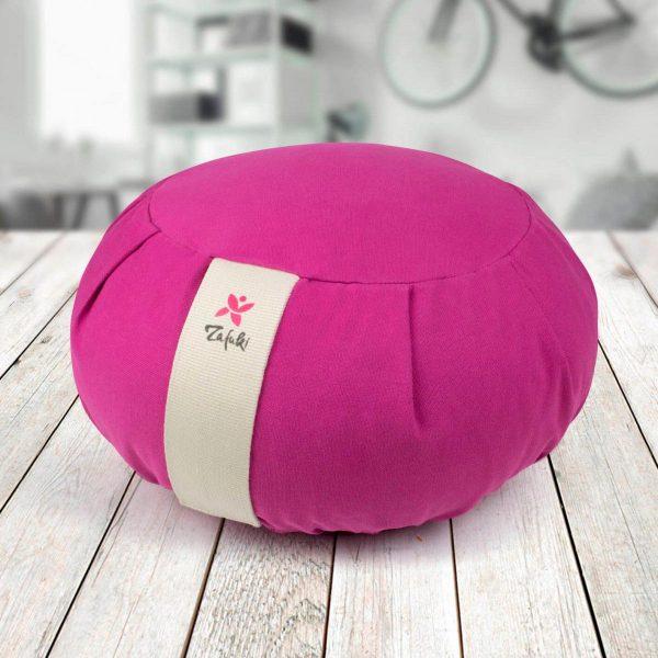 Zafu cojín desenfundable para yoga y meditación color purpura