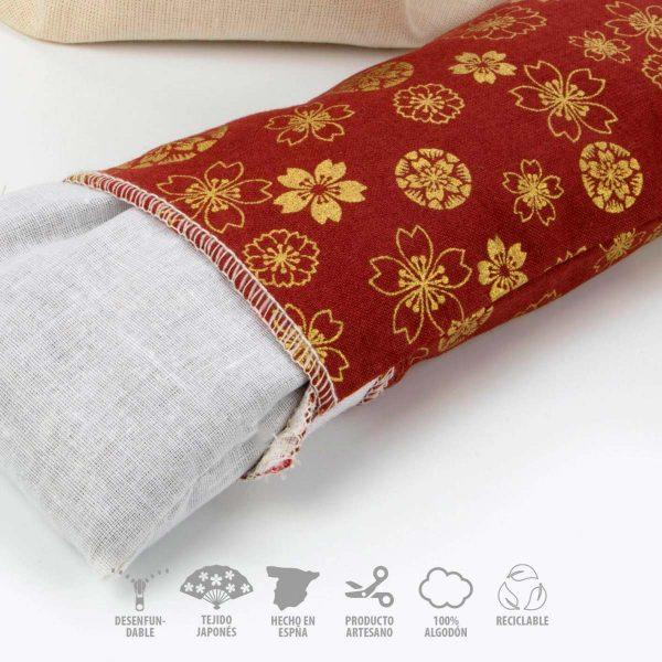 Almohadilla relax Yoga para Ojos fragancia lavanda iruelo dorado